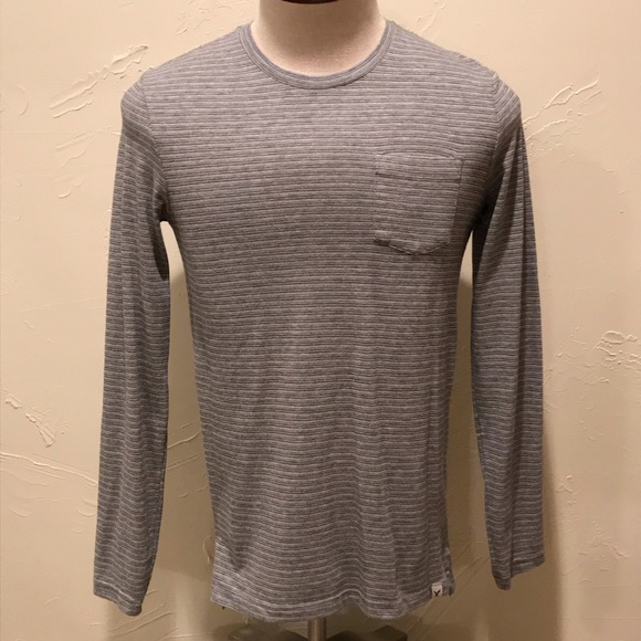 American Eagle Seriously Soft Men XS Gray LS Shirt